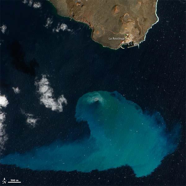 GANADORA: Erupción del volcán submarino de El Hierro