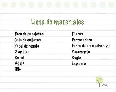 Listas de material