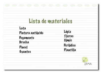 Lista-materiales