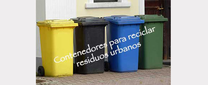 Contenedores para reciclar residuos urbanos